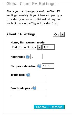 vavatrade global client ea settings risk ratio server