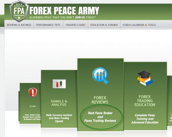 Forex peace army top brokers
