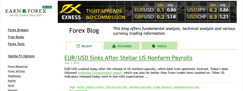Forex trading blog uk