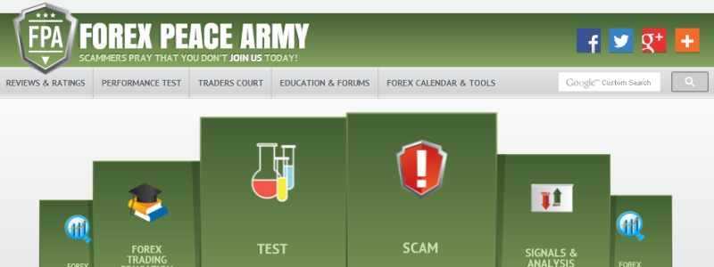 Forex peace army website