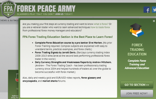 Review forex peace army