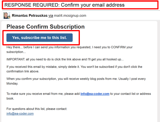 Response Required Confirm Your Email Address