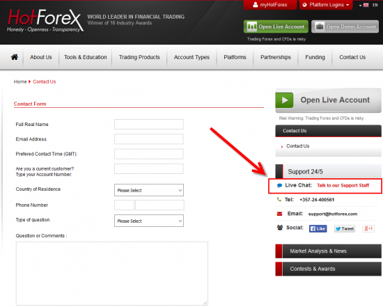 Forex broker website script