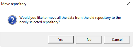 TDM asks to move all the data to a new Repository folder